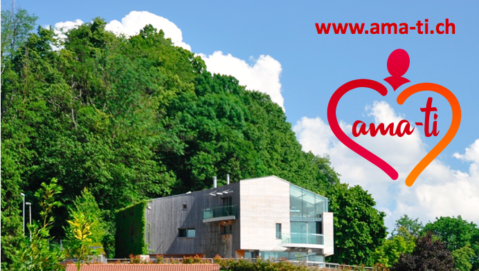Centro Ama-Ti con logo e sito